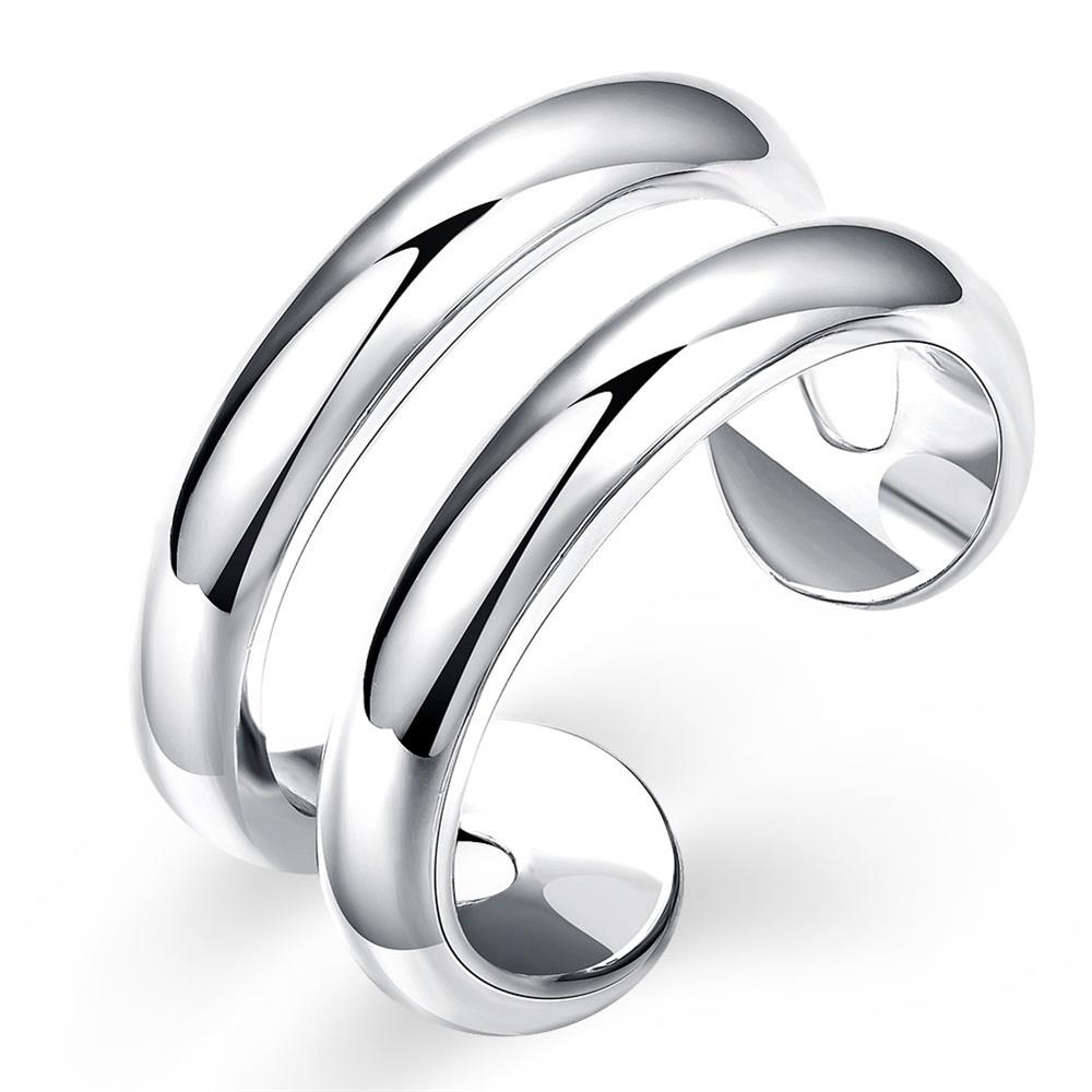 R038-8 Silver plated new design finger ring for lady