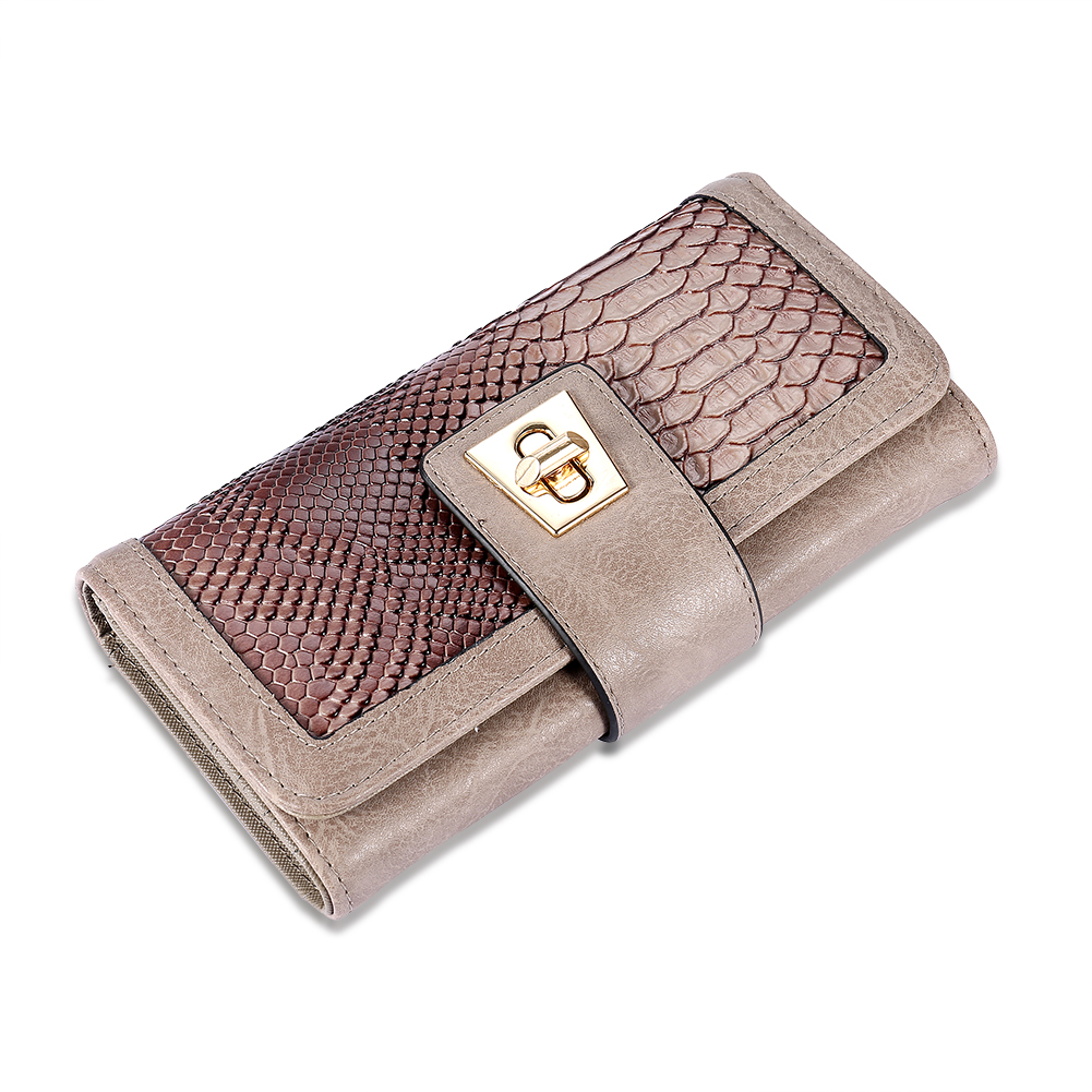 Simple and stylish clamshell-style long belt buckle multi-card wallet package BBHN012