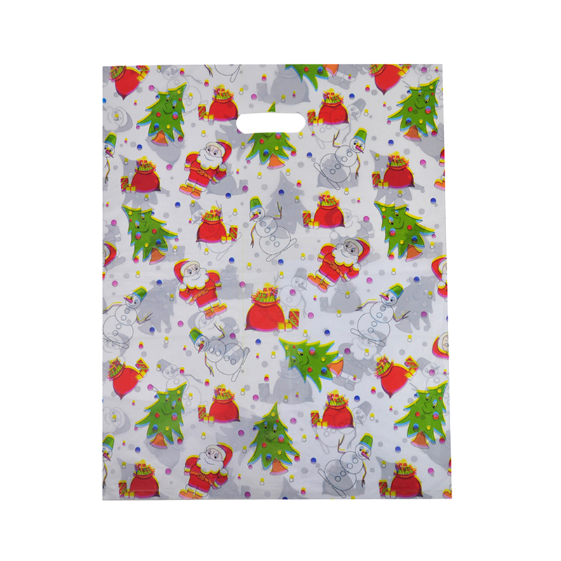HGRQ131 B - 25*35cm Christmas Tree Pattern Bag Large Carrier Bag *150pcs