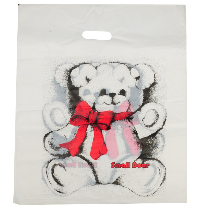 HGRQ240 C - Large White Bear 50*60cm Carrier Bag*100pcs