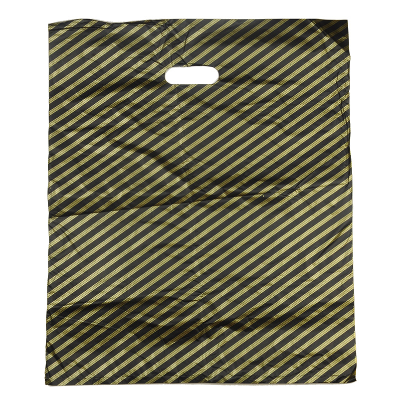 HGRQ240 G - Large Yellow Stripes 50*60cm Carrier Bag*100pcs