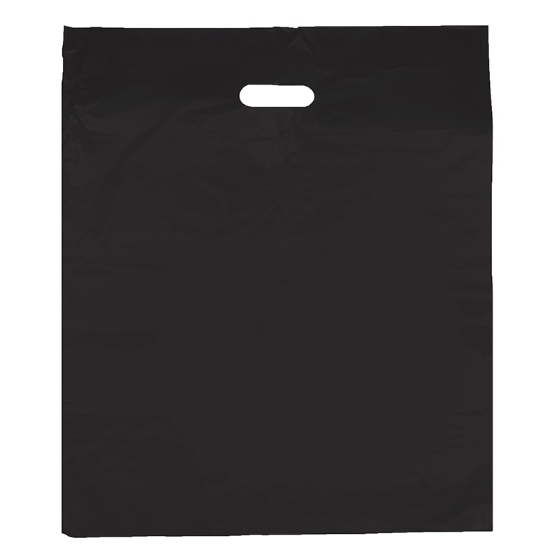 HGRQ240 J - Large Black 50*60cm Carrier Bag*100pcs