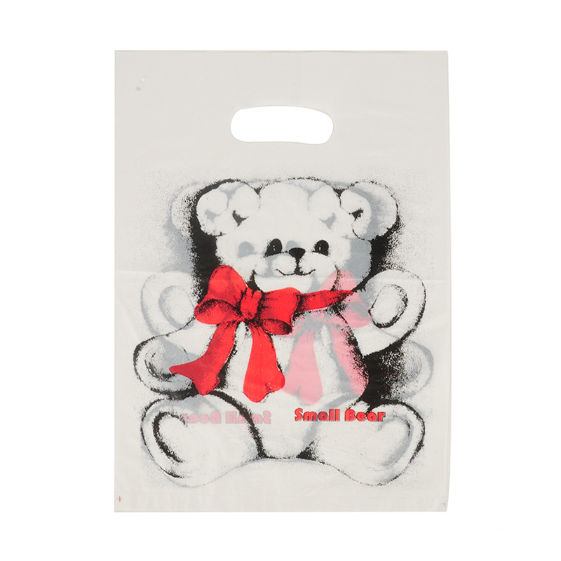 HGRQ241-1 C - White Bear 25*35cm Carrier Bag*100pcs