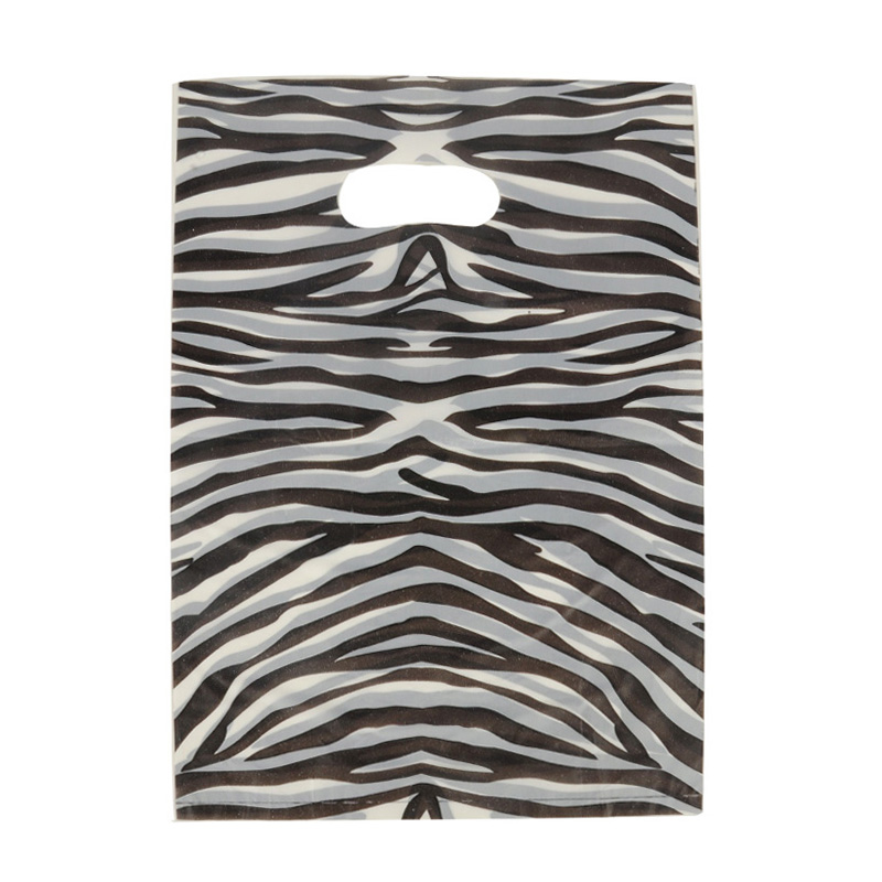 HGRQ241-1 E - Zebra pattern 25*35cm Carrier Bag*100pcs