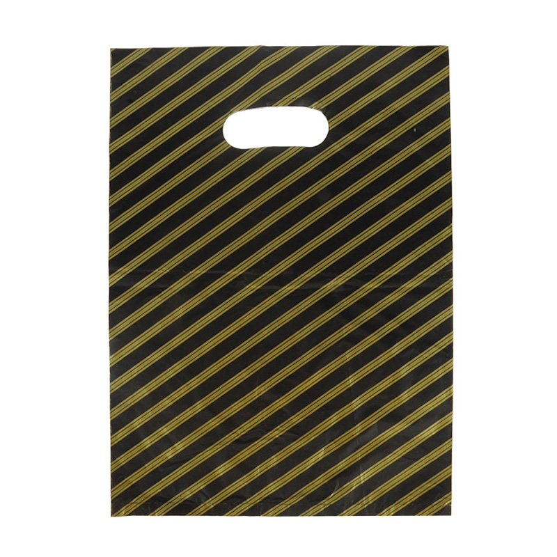HGRQ241-1 G - Yellow Stripes 25*35cm Carrier Bag*100pcs