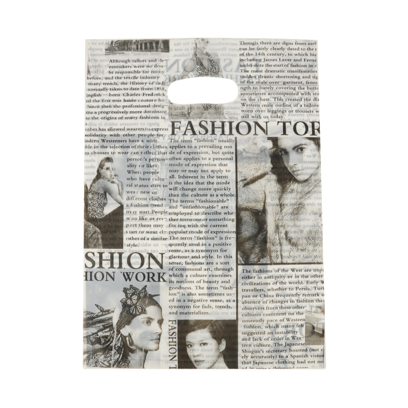 HGRQ241-1 H - Newspaper Pattern 25*35cm Carrier Bag*100pcs