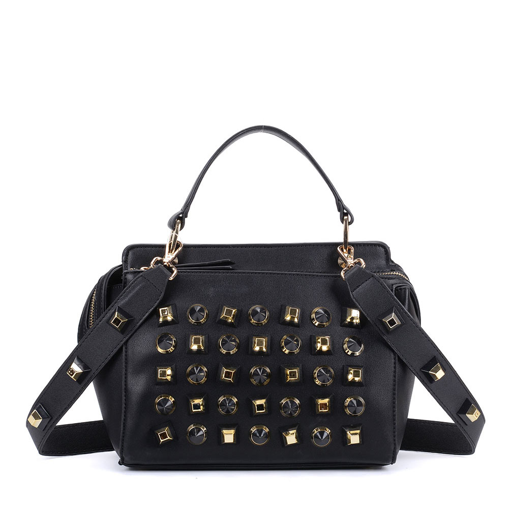 K0006 Black - Fashion Women Tote Bag With Peral