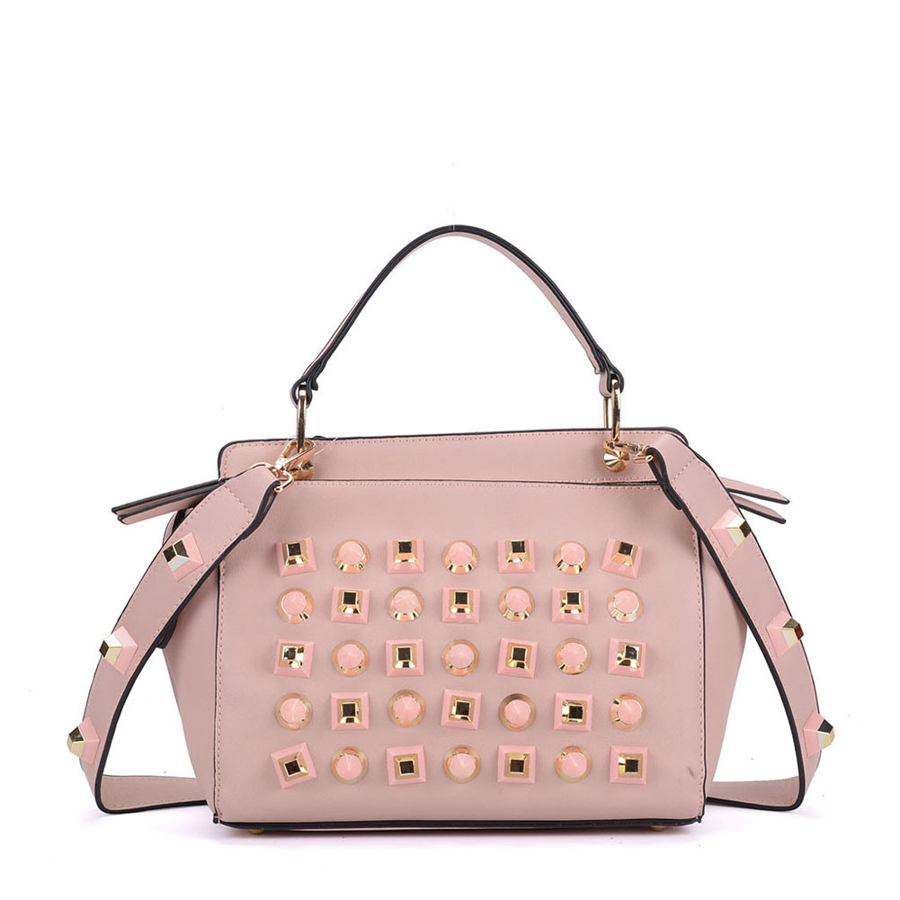 K0006 Pink - Fashion Women Tote Bag With Peral