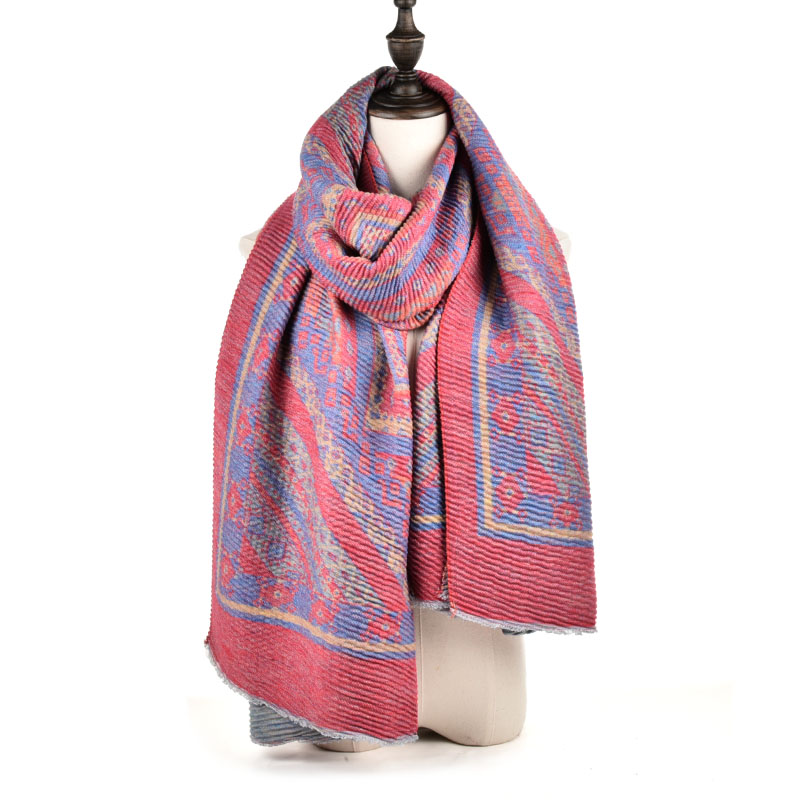 SF968 Red - Oversized Women Fashion Scarf