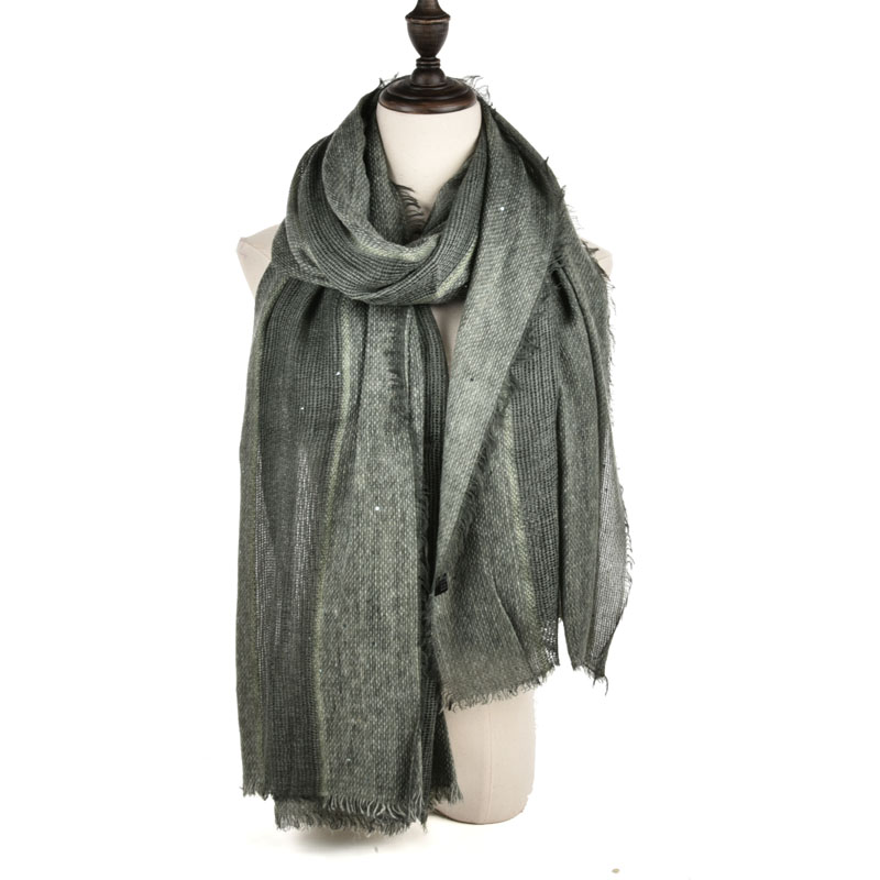 SF970 Green - Long Supersoft Plain Lady Scarf