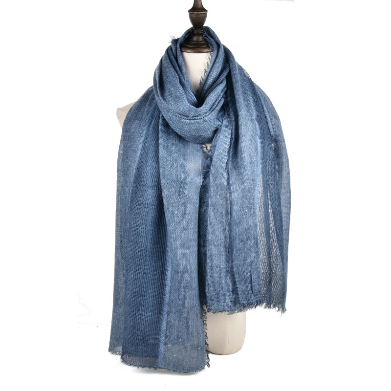 SF970 Navy - Long Supersoft Plain Lady Scarf