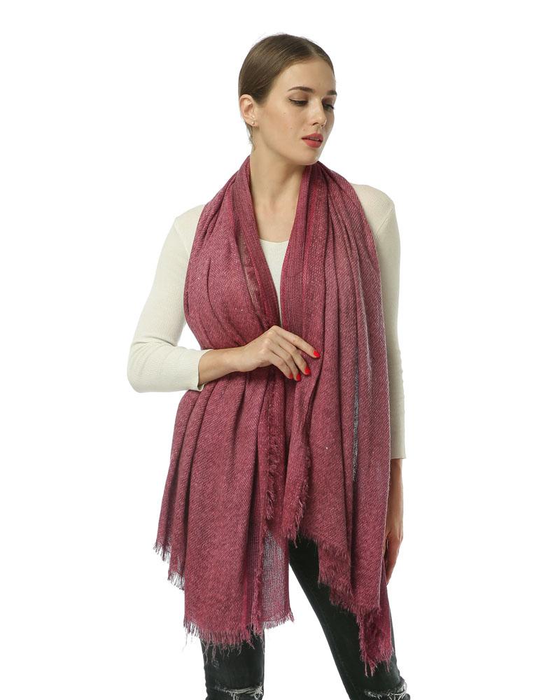 SF970 Red - Long Supersoft Plain Lady Scarf