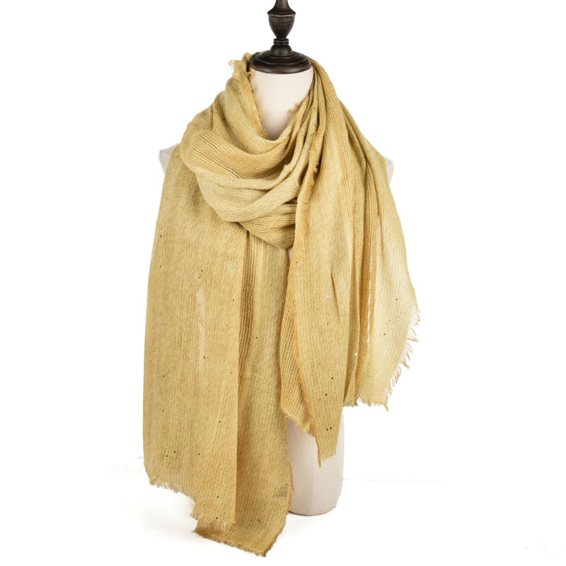 SF970 Yellow - Long Supersoft Plain Lady Scarf