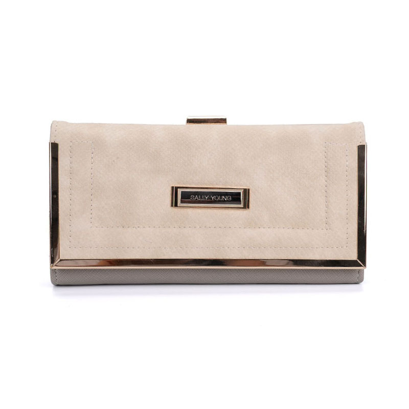 SY1565-1 Beige - Sally Young Boutique Foldable Purse Wallet