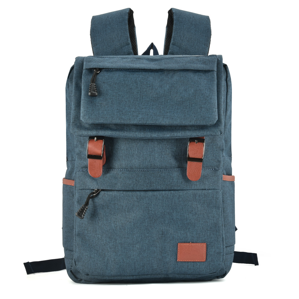 VK5042 Blue - Fashion Pin Buckle Straps Backpacks