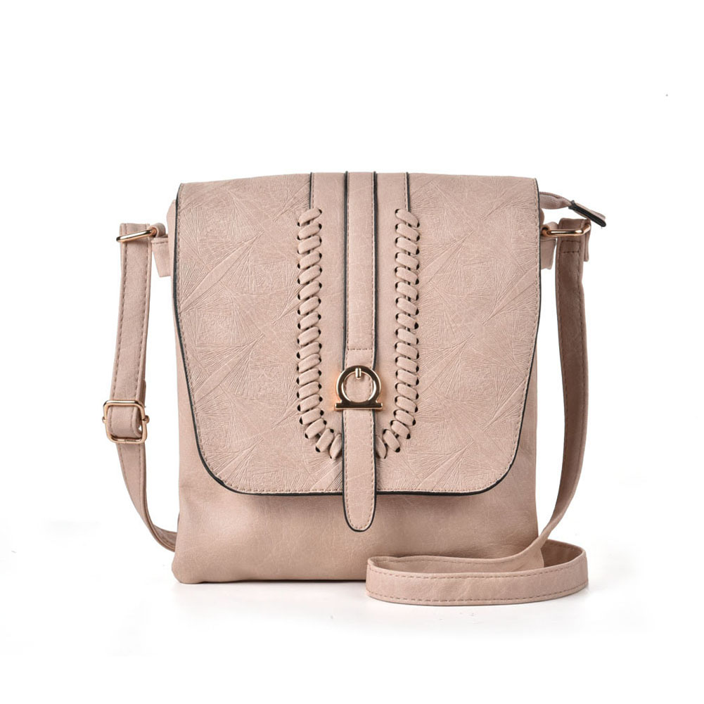 VK5148 Apricot - Women Casual Solid Handbag