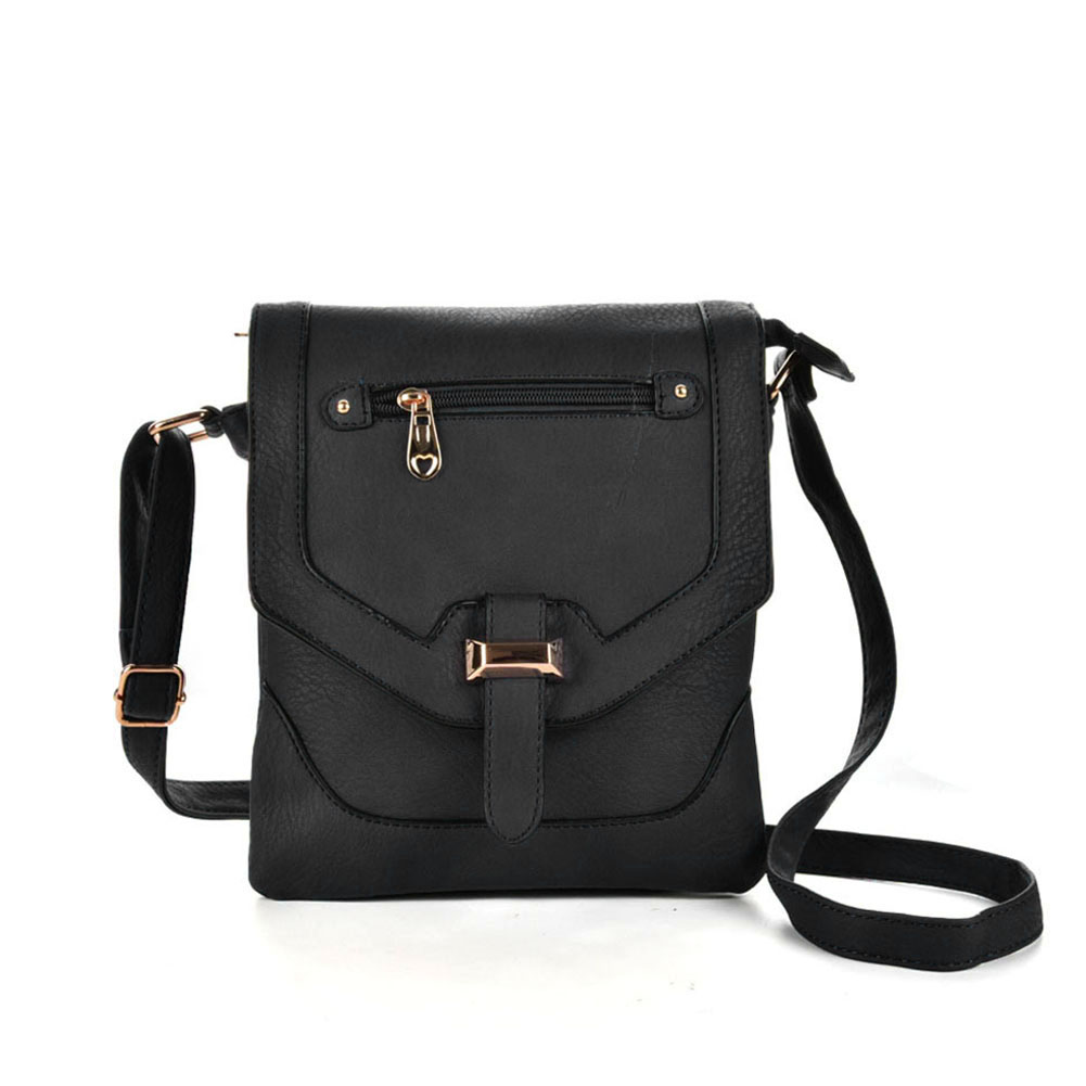 VK5158 Black - Women Patchwork Metal Decoration Handbags