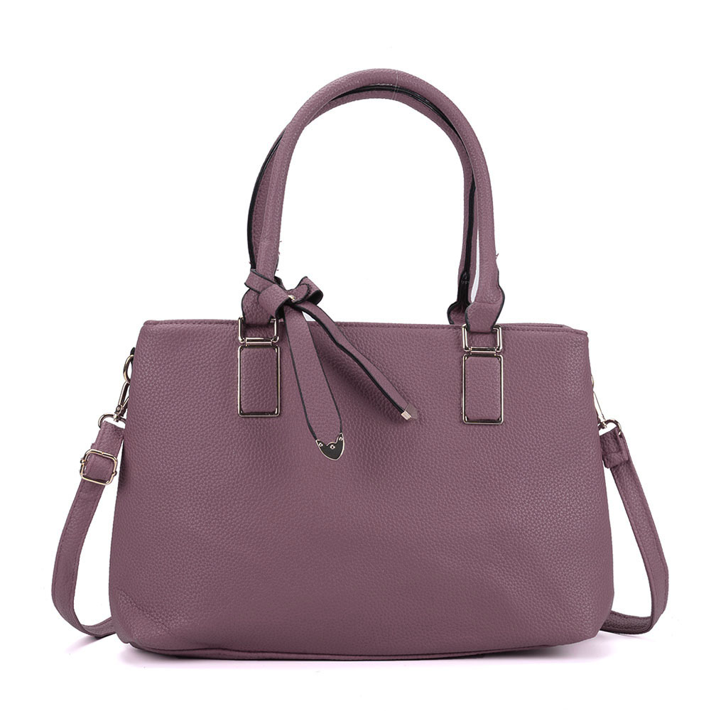 VK5223 Purple - Women Tote Bag With Bowknot