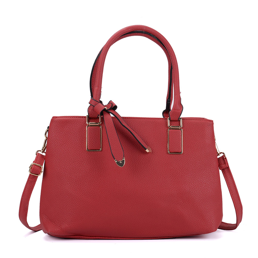 VK5223 Red - Women Tote Bag With Bowknot