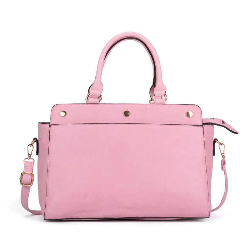 VK5317 Pink - Plain Oversized Women Tote Bag With Strap