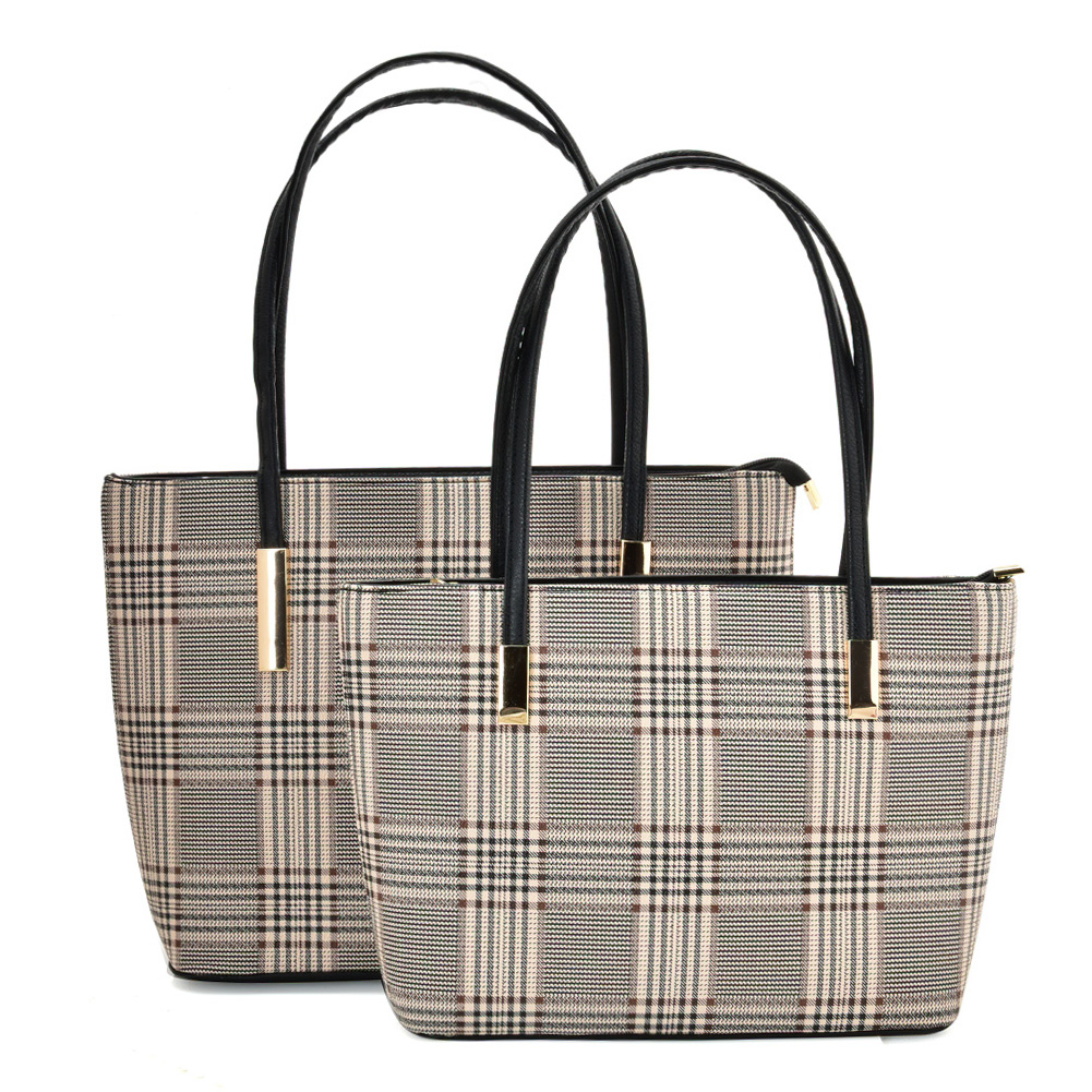 VK5574 APRICOT - Simple Set Bag With Slim Strap And Zipper Design