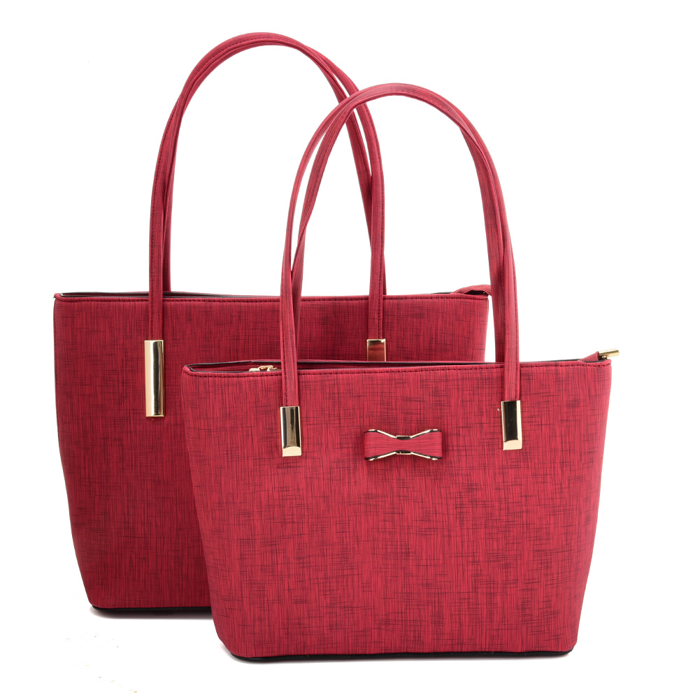 VK5574 RED - Simple Set Bag With Slim Strap And Bow Design
