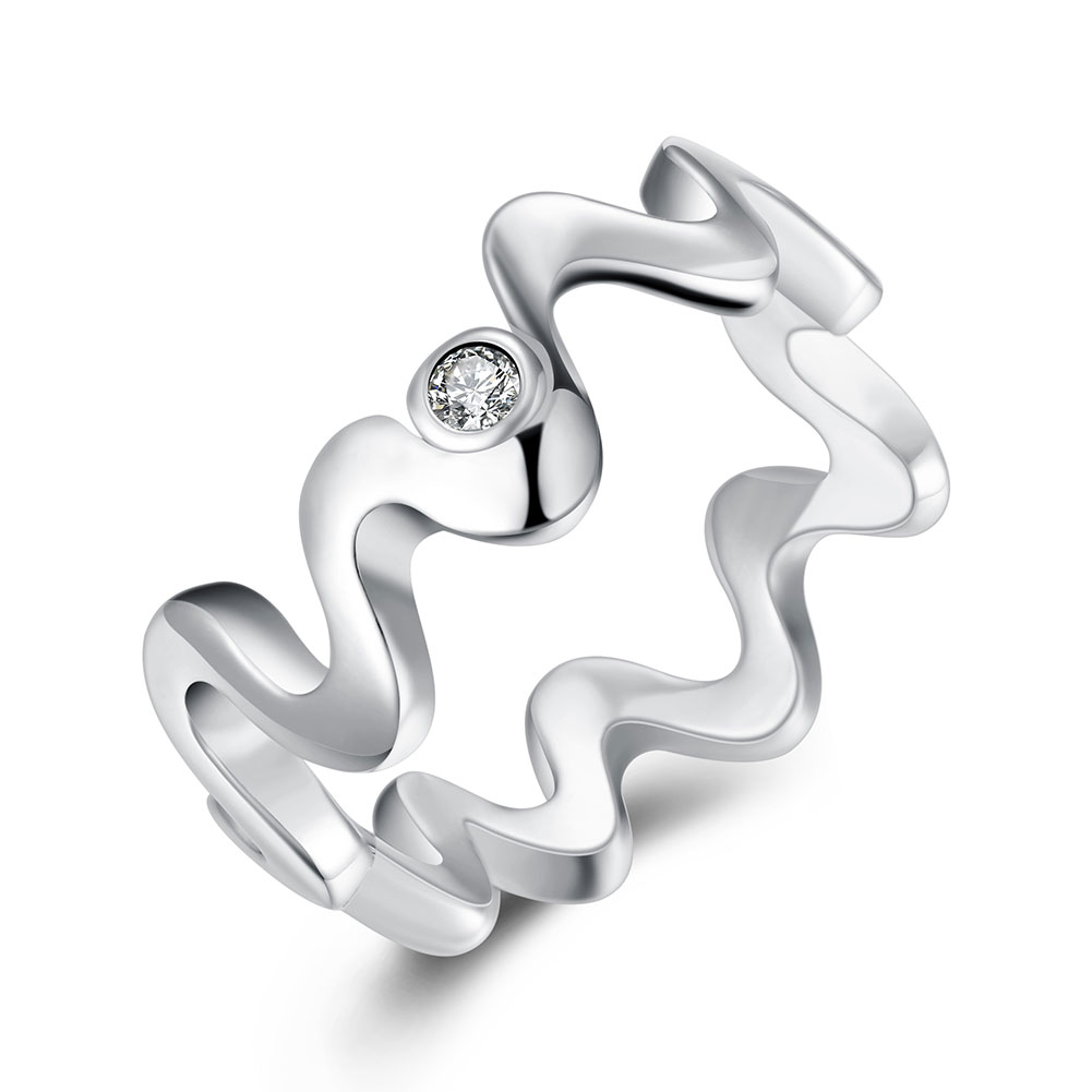 R029-8 Silver plated new design finger ring for lady